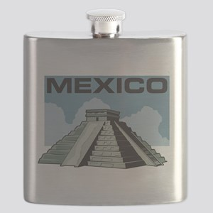 Mexico Pyramid Flask
