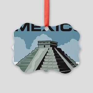 Mexico Pyramid Picture Ornament