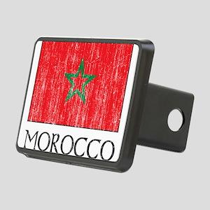 Morocco Flag Rectangular Hitch Cover