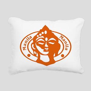 Manilla Passport Stamp Rectangular Canvas Pillow