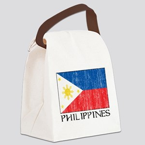 Philippines Flag Canvas Lunch Bag
