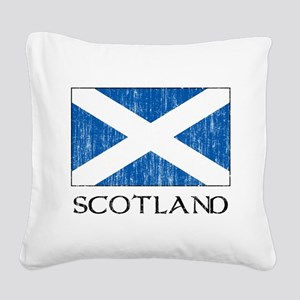 Scotland Flag Square Canvas Pillow