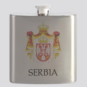 Coat of arms of Serbia Flask