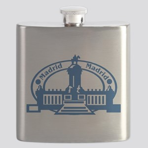 Madrid Passport Stamp Flask