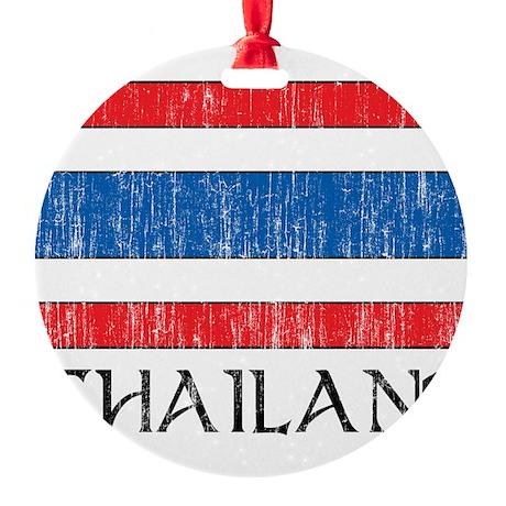 Thailand Flag Round Ornament