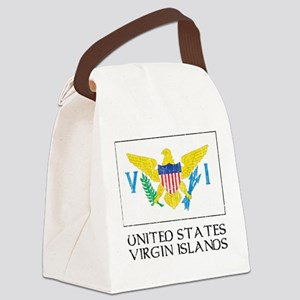 United States Virgin Islands Flag Canvas Lunch Bag