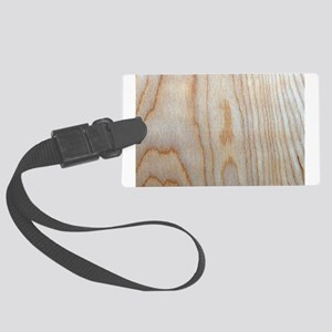Wood Grain Loves Stain Designer Large Luggage Tag