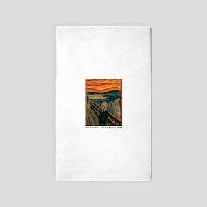 The Scream, Edvard Munch, 3'x5' Area Rug