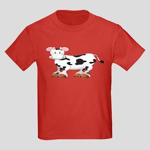 Cute Cow Shirt Kids Dark T-Shirt