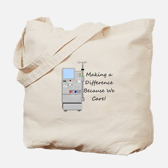 Funny Dialysis patient Tote Bag
