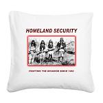 Homeland Security Native Square Canvas Pillow