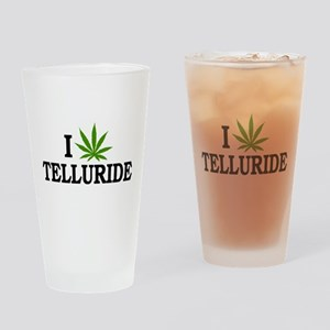 I Love Cannabis Telluride Colorado Drinking Glass