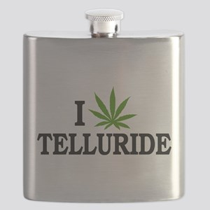 I Love Cannabis Telluride Colorado Flask