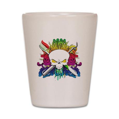 Dentist Pirate Skull Shot Glass