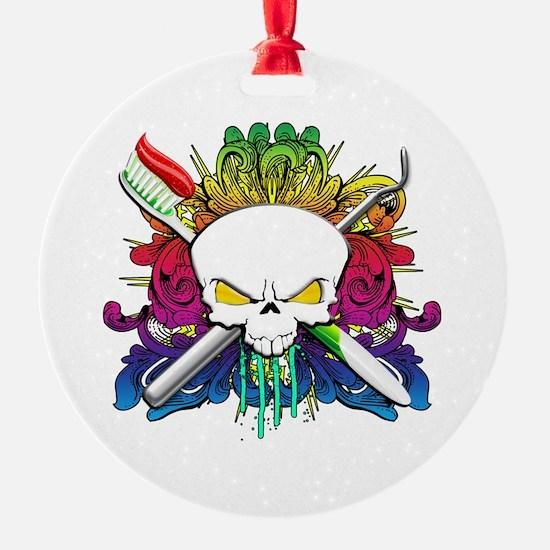 Dentist Pirate Skull Ornament