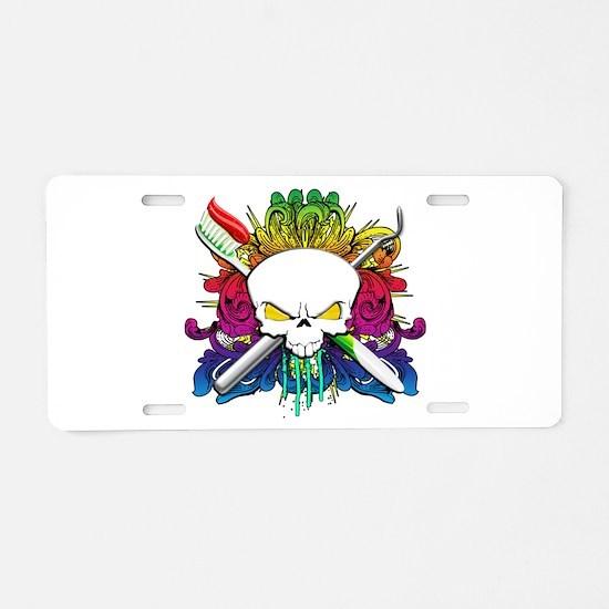 Dentist Pirate Skull Aluminum License Plate