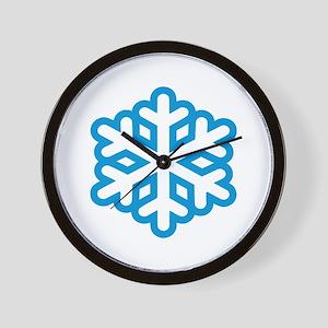 Snowflake winter Wall Clock