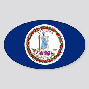 Flag of Virginia Sticker (Oval)
