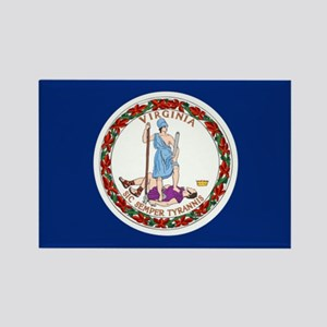 Flag of Virginia Rectangle Magnet