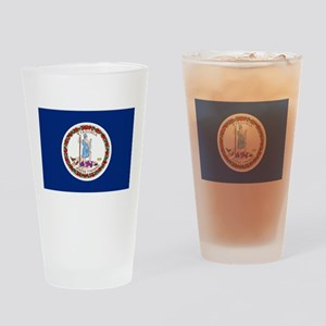 Flag of Virginia Drinking Glass