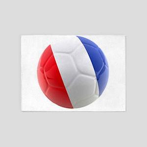 France world cup ball 5'x7'Area Rug