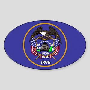 Flag of Utah Sticker (Oval)