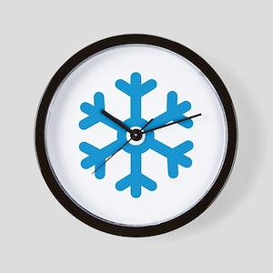Blue snowflake Wall Clock