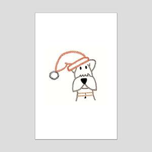xmas dog Mini Poster Print
