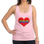 Mom Inside Big Heart Racerback Tank Top