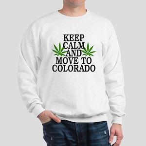 Keep Calm And Move To Colorado Sweatshirt