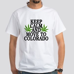 Keep Calm And Move To Colorado White T-Shirt