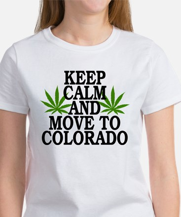 Keep Calm And Move To Colorado Women's T-Shirt