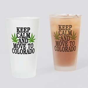 Keep Calm And Move To Colorado Drinking Glass