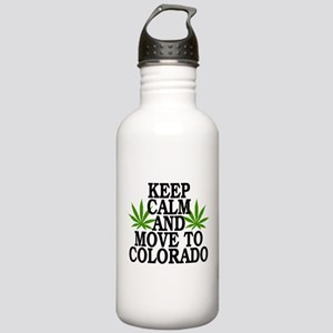 Keep Calm And Move To Colorado Stainless Water Bot