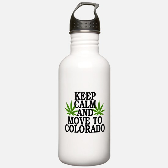 Keep Calm And Move To Colorado Water Bottle
