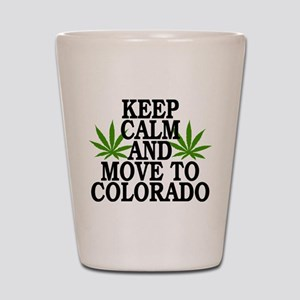 Keep Calm And Move To Colorado Shot Glass