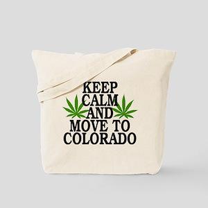 Keep Calm And Move To Colorado Tote Bag