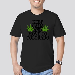 Keep Calm And Move To Colorado Men's Fitted T-Shir