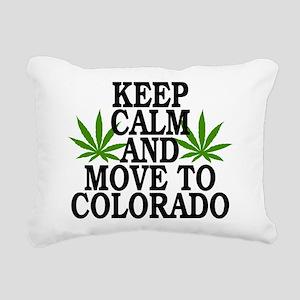 Keep Calm And Move To Colorado Rectangular Canvas