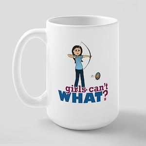 Archery Girl in Blue - Light Large Mug