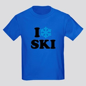 I love Ski Kids Dark T-Shirt