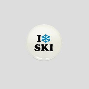 I love Ski Mini Button