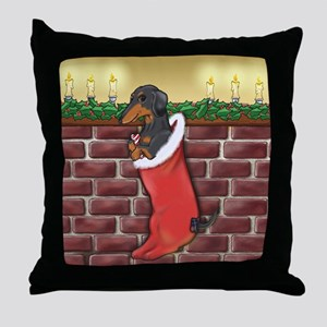B&T Dachshund Xmas Throw Pillow