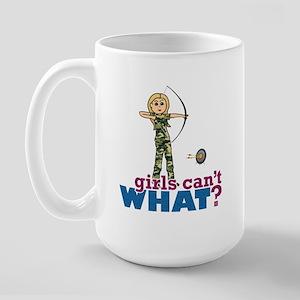 Camouflage Archery Girl - Blonde Large Mug