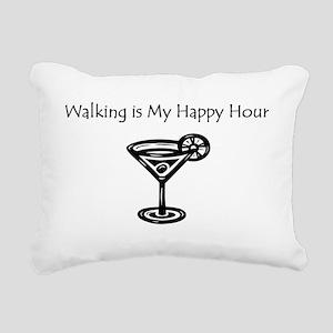 Walking is My Happy Hour B/W Rectangular Canvas Pi