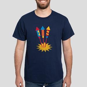 Fireworks rocket Dark T-Shirt