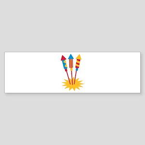 Fireworks rocket Sticker (Bumper)