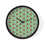 Rainbow Star Pattern Wall Clock