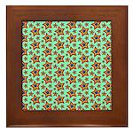 Rainbow Star Pattern Framed Tile