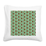 Rainbow Star Pattern Square Canvas Pillow